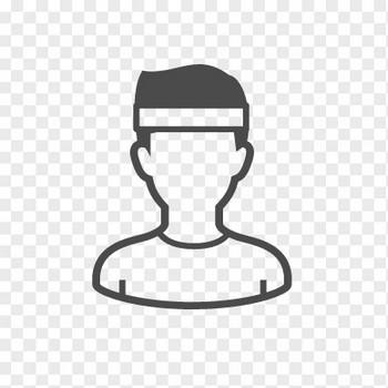 テニスプレーヤーのイラスト1 | アイコン素材ダウンロードサイト「icooon-mono」 | 商用利用可能なアイコン素材が無料(フリー)ダウンロードできるサイト