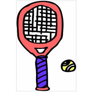 テニスラケットのイラスト - 無料イラストのIMT 商用OK、加工OK