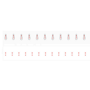手書き風のボウリングのピンイラスト線 | 罫線・飾り罫ライン素材 FREE LINE DESIGN
