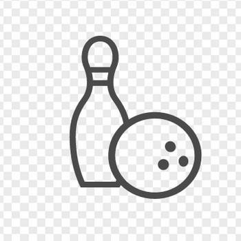ボーリングのイラスト6 | アイコン素材ダウンロードサイト「icooon-mono」 | 商用利用可能なアイコン素材が無料(フリー)ダウンロードできるサイト