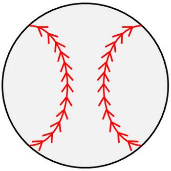 野球ボールのイラスト|フリー素材 イラストカット.com