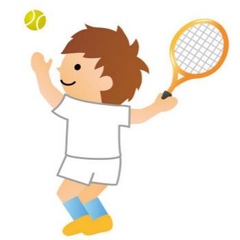 [無料イラスト] テニスをプレイ中の男子選手 - パブリックドメインQ:著作権フリー画像素材集