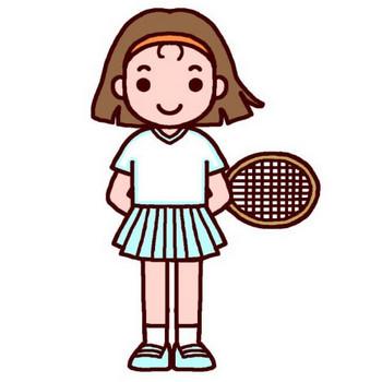 テニス(カラー)/女の子の無料イラスト/子ども・幼児/人物素材 : フリーイラスト 女の子のイラスト集 - NAVER まとめ