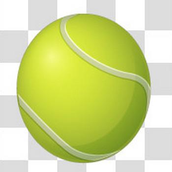 テニスボールのフリーイラスト素材