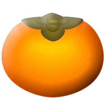柿のイラスト|フリー素材 イラストカット.com