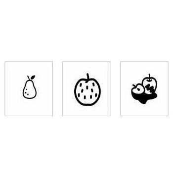 梨|シルエット イラストの無料ダウンロードサイト「シルエットAC」