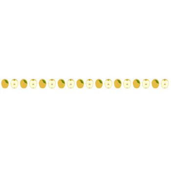 梨(ナシ)のライン飾り罫線イラスト | 無料フリーイラスト素材集【Frame illust】
