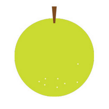 梨のシンプルイラスト <無料> | イラストK