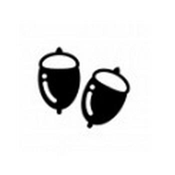 どんぐり | 無料のAi・PNG白黒シルエットイラスト