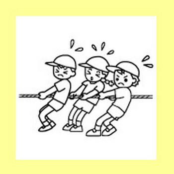 運動会1/大きな行事/学校/無料イラスト【みさきのイラスト素材】