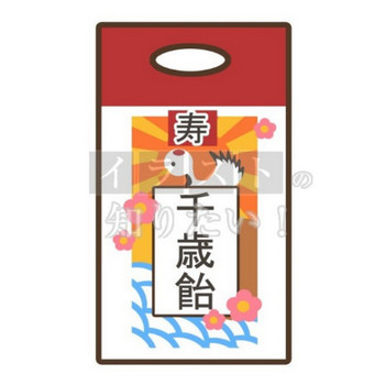 イラストの知りたい! - 七五三・シンプルな千歳飴のイラスト無料素材ダウンロード - Powered by LINE