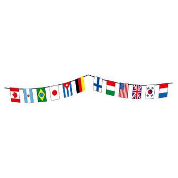 万国旗のライン素材   無料イラスト素材 素材ラボ