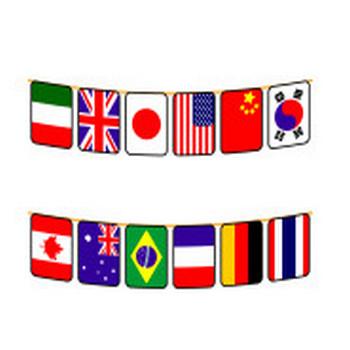 かわいい万国旗の無料イラスト・商用フリー   オイデ43