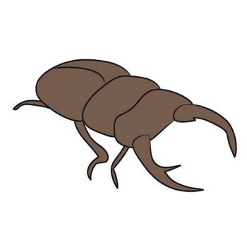 クワガタ|昆虫|動物|クリップアート|無料イラスト