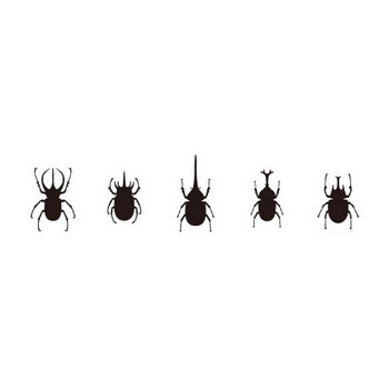 世界のカブトムシ | シルエットデザイン