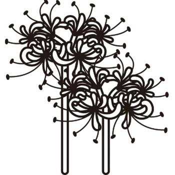 植物 彼岸花(モノクロ) – 無料イラスト・PowerPointテンプレート配布サイト【素材工場】