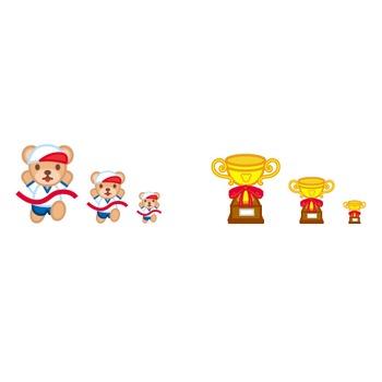 フリー素材・無料イラスト「ふぁんし~・ぱ~つ・しょっぷ」-季節・イベント-運動会のイラスト(体育祭)