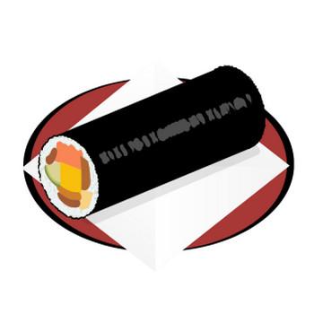 和食:節分 恵方巻き | フリーイラスト素材 「趣味で作ったイラストを配るサイト」