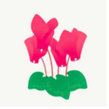 シクラメン: 素材庭園(フリーイラスト素材集) ~花・動物・食べ物・人物・雑貨他