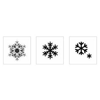 雪の結晶|シルエット イラストの無料ダウンロードサイト「シルエットAC」