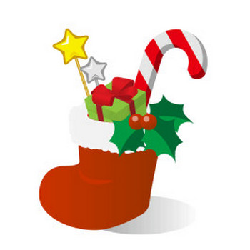 クリスマスブーツ - フリーイラスト素材 「趣味で作ったイラストを配るサイト」