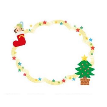 クリスマスブーツ | 無料イラスト かわいいフリー素材集 フレームぽけっと