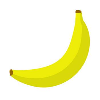 バナナ(1本)のイラスト | 無料のフリー素材 イラストエイト
