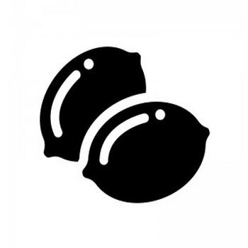レモンのシルエット | 無料のAi・PNG白黒シルエットイラスト