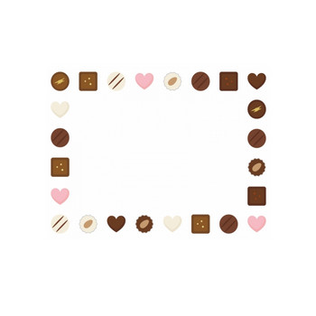 チョコレートトリュフの囲みフレーム飾り枠イラスト | 無料イラスト かわいいフリー素材集 フレームぽけっと