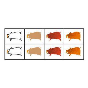 イノシシ・うりぼうのイラスト/フリー素材 無料イラスト