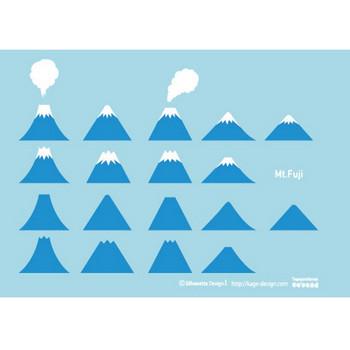 富士山のデフォルメ イラスト | シルエットデザイン