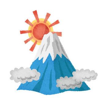 富士山 | フリーイラスト素材 イラストラング