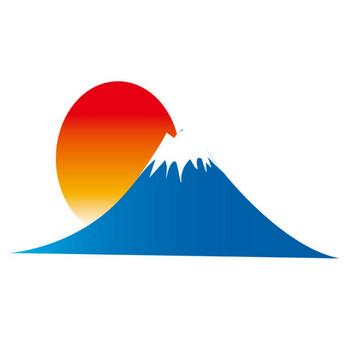 [無料イラスト] 富士山と朝日 - パブリックドメインQ:著作権フリー画像素材集