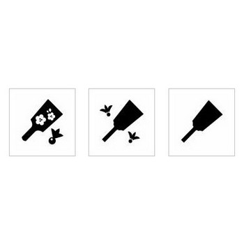 羽子板|シルエット イラストの無料ダウンロードサイト「シルエットAC」