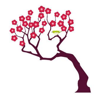 梅の木イラスト5 | 花、植物イラスト Flode illustration (フロデイラスト)