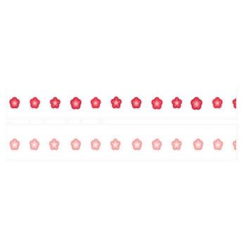 梅の花のライン | 罫線・飾り罫ライン素材 FREE LINE DESIGN