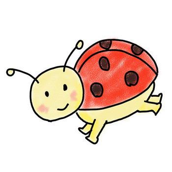 てんとう虫 | テントウムシ | フリー素材 | 漫画風イラスト | 画像
