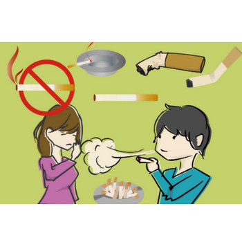 タバコのイラスト - 禁煙マークと喫煙者の無料素材 - チコデザ