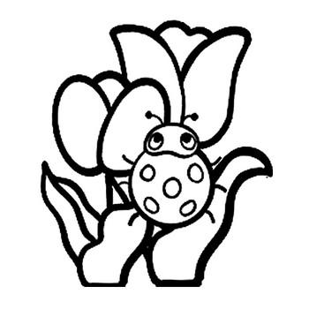 てんとう虫とチューリップのイラスト | 保育園・幼稚園のおたよりフリー素材「いらすとびより」