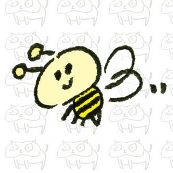 ミツバチさんのイラスト   ゆるくてかわいい無料イラスト素材屋「ぴよたそ」
