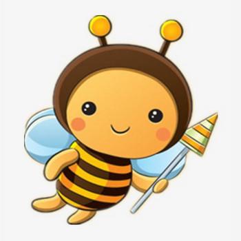 無料ダウンロードのためのミツバチ 漫画のハチは蜜を採取してかわいい png画像