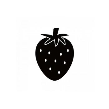 イチゴのシルエット | 無料のAi・PNG白黒シルエットイラスト