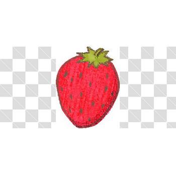 手描き風のいちごのフリーイラスト素材