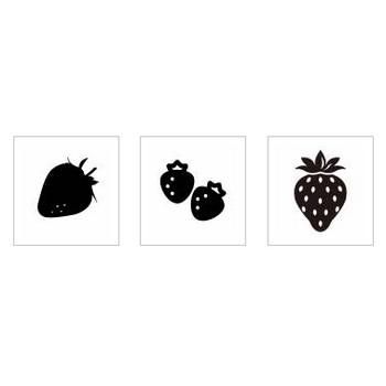 イチゴ|シルエット イラストの無料ダウンロードサイト「シルエットAC」