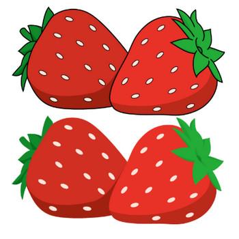 1月15日いちごの日-苺のイラスト|無料ビジネスイラスト素材のビジソザ