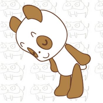 お辞儀をするパンダ君のイラスト | ゆるくてかわいい無料イラスト素材屋「ぴよたそ」