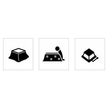 こたつ シルエット イラストの無料ダウンロードサイト「シルエットAC」