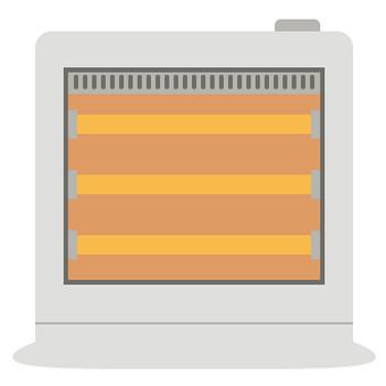電気ストーブ(ヒーター)のイラスト | 無料フリーイラスト素材集【Frame illust】