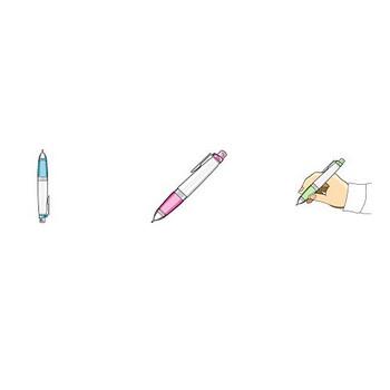 イラストポップ   文房具のイラスト無料-ペンの素材