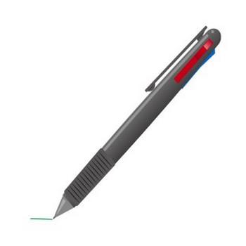 塾:多色ボールペン   フリーイラスト素材 「趣味で作ったイラストを配るサイト」